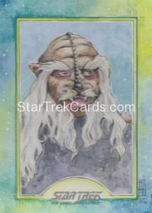 Star Trek The Next Generation Portfolio Prints Series One Trading Card Sketch Helga Wojik Alternate