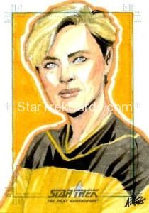 Star Trek The Next Generation Portfolio Prints Series One Trading Card Sketch Irma Ahmed