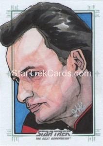 Star Trek The Next Generation Portfolio Prints Series One Trading Card Sketch Jason Kemp