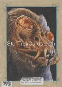 Star Trek The Next Generation Portfolio Prints Series One Trading Card Sketch Jason Saldajeno
