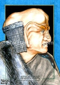 Star Trek The Next Generation Portfolio Prints Series One Trading Card Sketch Jason Saldajeno Alternate