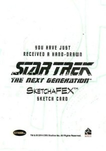 Star Trek The Next Generation Portfolio Prints Series One Trading Card Sketch Jason Saldajeno Back