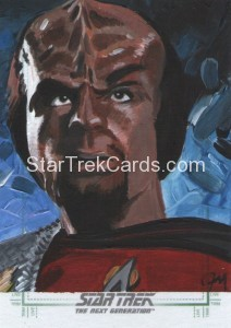Star Trek The Next Generation Portfolio Prints Series One Trading Card Sketch Jeff Mallinson