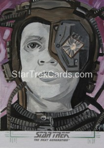 Star Trek The Next Generation Portfolio Prints Series One Trading Card Sketch Jeff Mallinson Alternate