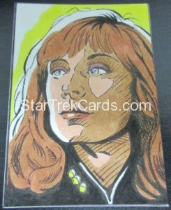 Star Trek The Next Generation Portfolio Prints Series One Trading Card Sketch Keith Carter