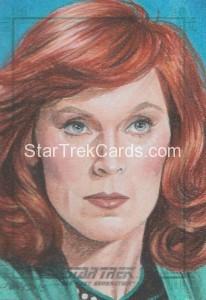 Star Trek The Next Generation Portfolio Prints Series One Trading Card Sketch Kristin Allen Alternate