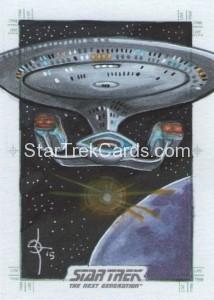 Star Trek The Next Generation Portfolio Prints Series One Trading Card Sketch Leon Braojos