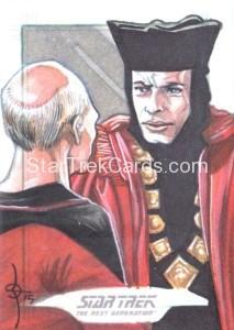 Star Trek The Next Generation Portfolio Prints Series One Trading Card Sketch Leon Braojos Alternate