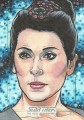 Star Trek The Next Generation Portfolio Prints Series One Trading Card Sketch Nathan Nelson