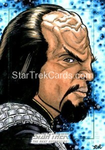Star Trek The Next Generation Portfolio Prints Series One Trading Card Sketch Nathan Nelson Alternate