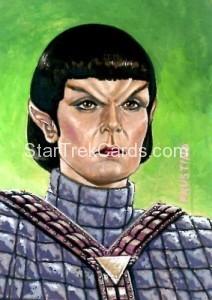 Star Trek The Next Generation Portfolio Prints Series One Trading Card Sketch Norman Jim Faustino Alternate