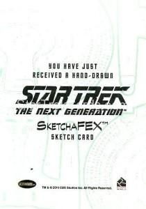 Star Trek The Next Generation Portfolio Prints Series One Trading Card Sketch Norman Jim Faustino Back