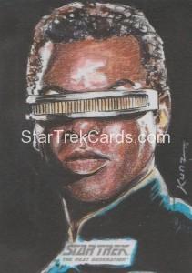 Star Trek The Next Generation Portfolio Prints Series One Trading Card Sketch Rich Kunz