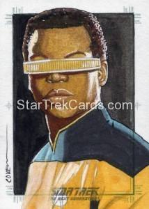 Star Trek The Next Generation Portfolio Prints Series One Trading Card Sketch Roy Cover