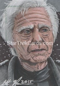 Star Trek The Next Generation Portfolio Prints Series One Trading Card Sketch Scott Houseman Alternate