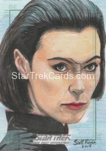 Star Trek The Next Generation Portfolio Prints Series One Trading Card Sketch Scott Rorie