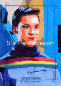 Star Trek The Next Generation Portfolio Prints Series One Trading Card Sketch Sean Anderson