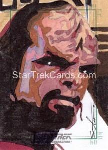 Star Trek The Next Generation Portfolio Prints Series One Trading Card Sketch Sean Anderson Alternate