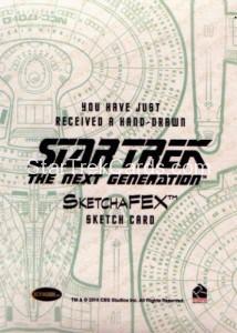 Star Trek The Next Generation Portfolio Prints Series One Trading Card Sketch Sean Anderson Back