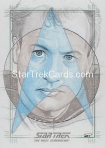 Star Trek The Next Generation Portfolio Prints Series One Trading Card Sketch Sean Pence