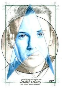 Star Trek The Next Generation Portfolio Prints Series One Trading Card Sketch Sean Pence Alternate