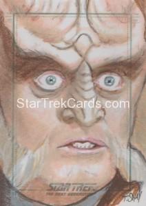 Star Trek The Next Generation Portfolio Prints Series One Trading Card Sketch Tim Shay