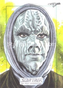 Star Trek The Next Generation Portfolio Prints Series One Trading Card Sketch Tirso Llaneta