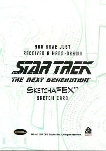 Star Trek The Next Generation Portfolio Prints Series One Trading Card Sketch Tirso Llaneta Back