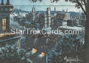 Star Trek The Next Generation Portfolio Prints Series One Trading Card Sketch Warren Martineck Alternate