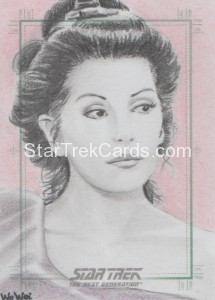 Star Trek The Next Generation Portfolio Prints Series One Trading Card Sketch Wu Wei