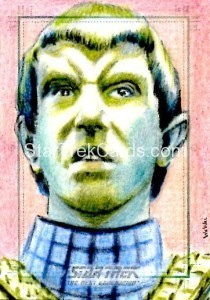Star Trek The Next Generation Portfolio Prints Series One Trading Card Sketch Wu Wei Alternate