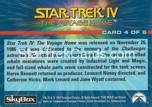 1993 The Starfleet Collection Trading Card Back 4