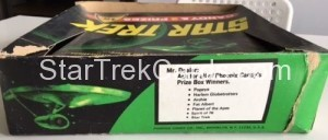 Star Trek Phoenix Candy Trading Card Box Back