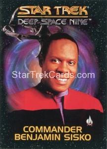 Star Trek Deep Space Nine Playmates Action Figure Card Commander Benjamin Sisko
