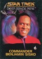 Star Trek Deep Space Nine Playmates Action Figure Card Commander Benjamin Sisko