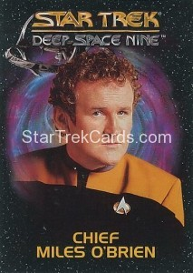 Star Trek Deep Space Nine Playmates Action Figure Cards Chief Miles OBrien