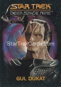 Star Trek Deep Space Nine Playmates Action Figure Cards Gul Dukat