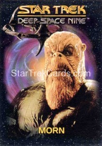 Star Trek Deep Space Nine Playmates Action Figure Cards Morn