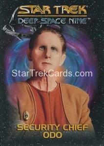 Star Trek Deep Space Nine Playmates Action Figure Cards Security Chief Odo