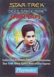 Star Trek DS9 Playmates Action Figure Space Caps Trading Card 16