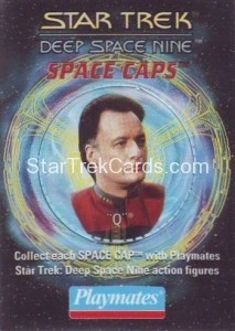 Star Trek DS9 Playmates Action Figure Space Caps Trading Card 3