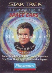 Star Trek DS9 Playmates Action Figure Space Caps Trading Card 6
