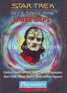 Star Trek DS9 Playmates Action Figure Space Caps Trading Card 9