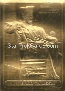 Star Trek 23 Karat Gold Cards All Good Things