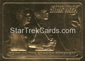 Star Trek 23 Karat Gold Cards City on The Edge of Forever