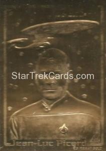 Star Trek 23 Karat Gold Cards Jean Luc Picard