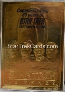 Star Trek 23 Karat Gold Cards Star Trek 30 Years QVC Edition