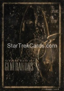 Star Trek 23 Karat Gold Cards Star Trek Generations
