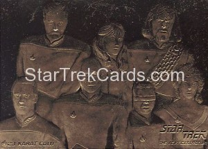 Star Trek 23 Karat Gold Cards TNG Senior Officers