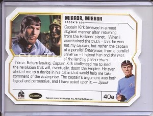 Star Trek The Original Series 50th Anniversary Trading Card 40a Back
